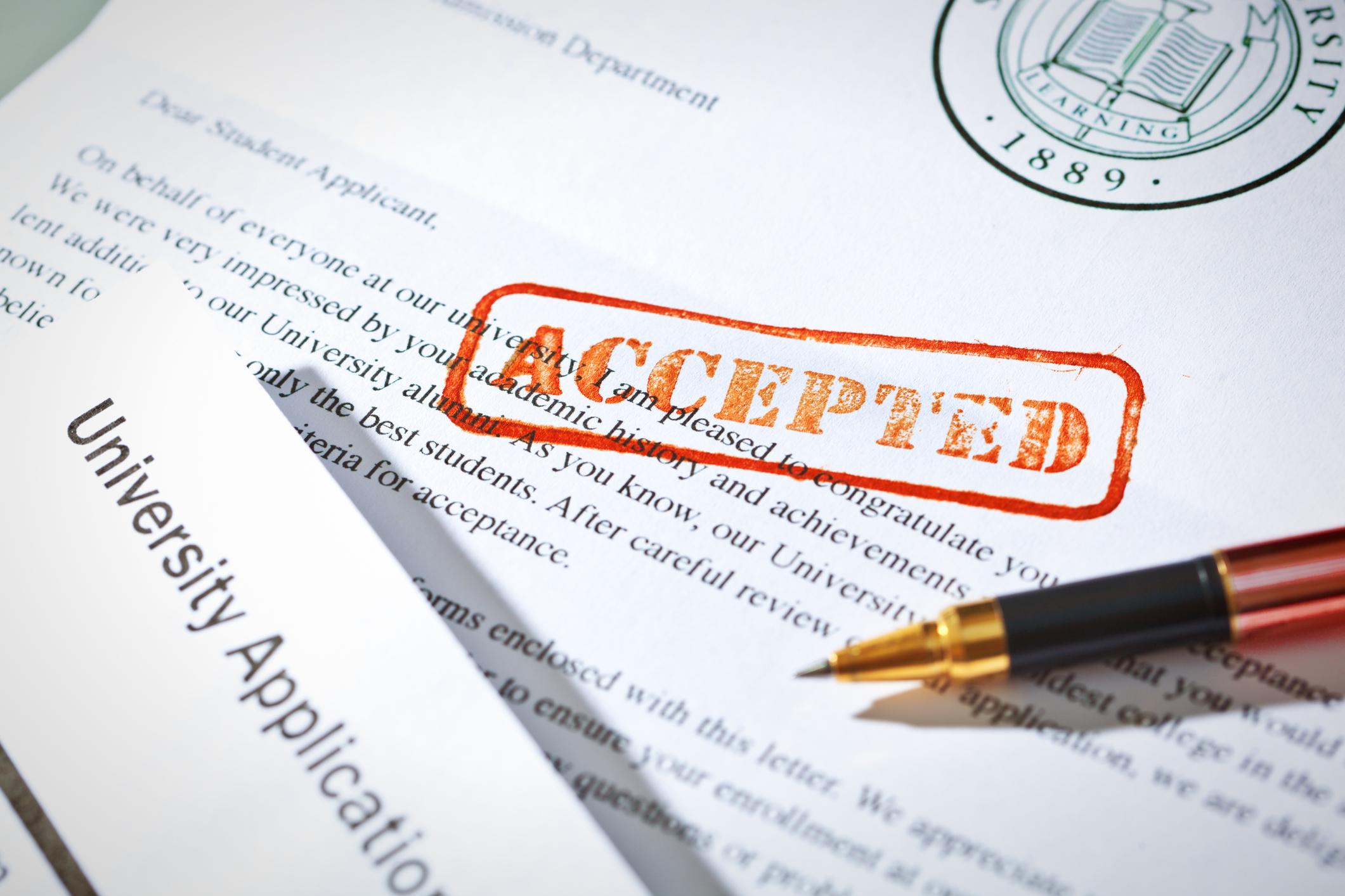 university acceptance